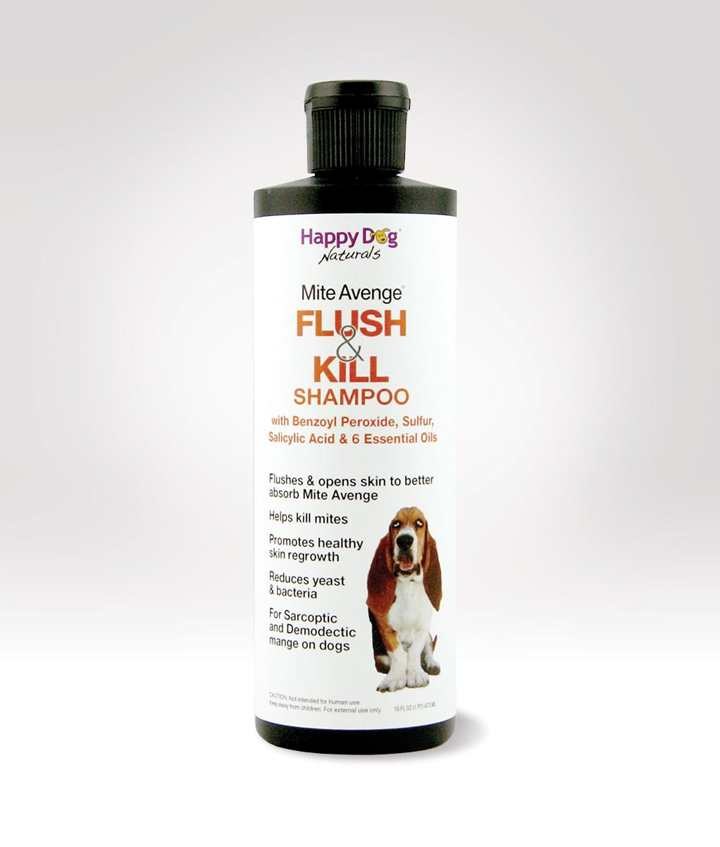Flush Kill Our Benzoyl Peroxide Shampoo Happy Dog Naturals